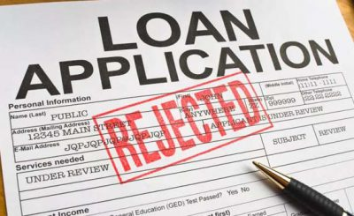 Why Your Personal Loan Application was Declined
