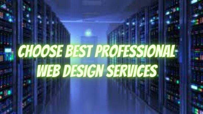 Choose best Professional Web Design Services